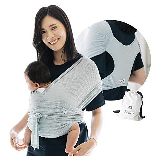 Konny babytrage sommer,ultra-leicht, hassle-free-baby-verpackungs-riemen,neugeborene, kleinkinder bis 44 lbs kleinkinder,kühl und atmungsaktiv stoff,sensible schlaf-lösung (mint, m)