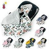 XXL Einschlagdecke Babyschale SOMMER FRÜHLING Autositz mit Klettverschluss leicht universal, Gr....