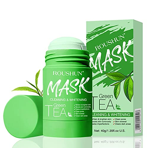 Grüner Tee Mask Stick Deep Cleansing Gesichtsmaske, Green Tea Pore Cleaner Mitesserentferner Mask, Entfernen Sie Akne entfernt Mitesser verkleinert die Poren strafft die Haut Reinigen Sie die Haut 40g