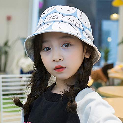 Chapeau de Bassin pour Enfants Nouvelle Fille imprimée Chapeau de pêcheur bébé Chapeau de Soleil Chapeau Chapeau marée Chapeau Blanc Un Yard