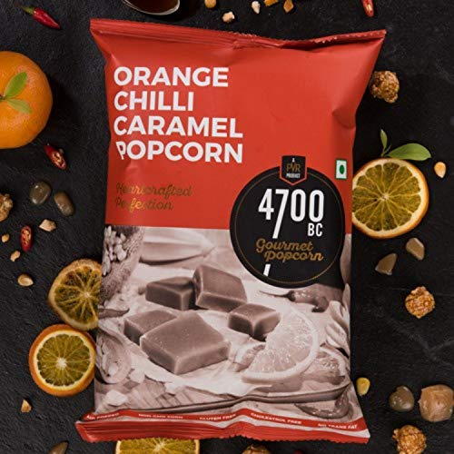 4700BC Orange Chilli Caramel Popcorn, Pouch, 125g (Pack of 2)