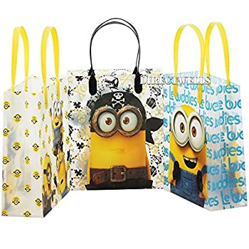 Minions Despicable Me Authentic Licensed Party Favor 12 Reusable Goodie Medium Gift Bags 8
