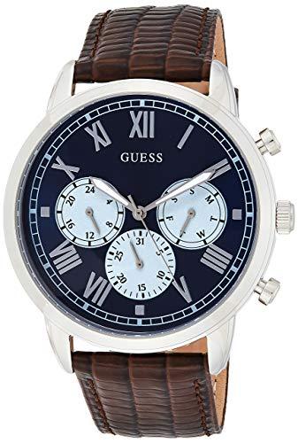 GUESS Reloj Analógico para Hombre de Cuarzo con Correa en Cuero W1261G1