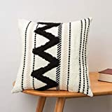 blue page Morocco Tufted Boho Throw Pillow Covers 18X18...