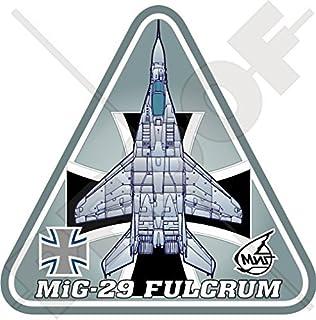 "MIG-29 FULCRUM GERMANY Mikoyan-Gurevich MiG-29A LUFTWAFFE German Air Force 3.7"" (95mm) Vinyl Sticker, Decal"