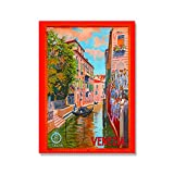 Misszhang Poster and Prints Landscape Italy France Florence Florida Paris Peru Greece Artwork Paintings Art Canvas Wall Pictures Home Decor S443 Unframed 40X50Cm
