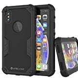 Punkcase iPhone XS Max Waterproof Case [Navy Seal Extreme Series] [Slim Fit] [IP68 Certified] [Shockproof] [Dirtproof] [Snowproof] 360 Full Body Armor Cover Compatible With Apple iPhone XS Max [Black]