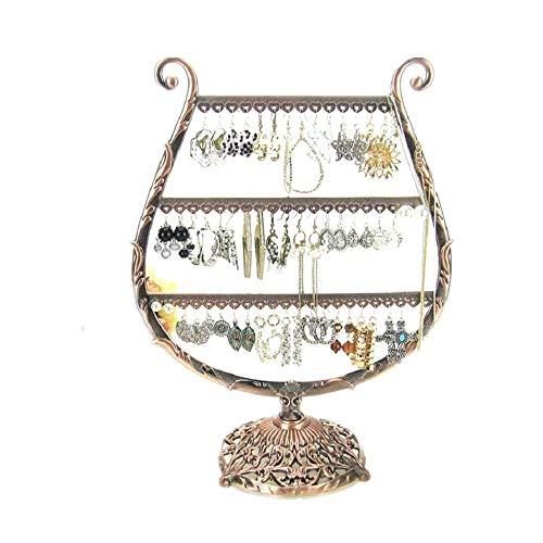 BEI&YANG Schmuckständer Ohrringe Ohrringe Lagerung Schmuckständer Armband Halskette Ornamente@58 Loch Weinglas Typ