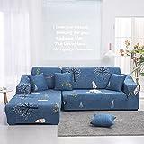 Funda de sofá Impresa Funda elástica para Muebles Funda de sofá elástica para Sala de Estar Funda de sofá Modular Funda de sofá 1/2/3/4 Asiento A12 3 plazas