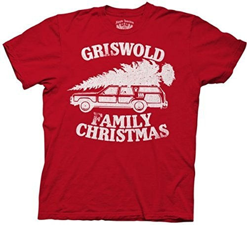 Christmas Vacation Griswold Family Christmas Red Adult T-shirt Tee, S