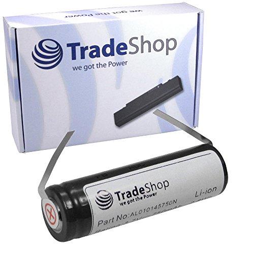 Trade-Shop Hochleistungs Li-Ion Akku 3,7V / 750mAh für Philips Speed XL HQ7363 HQ7360 RQ1095/22 RQ1050 HQ8250 HQ9190 HQ8894 HQ7200 HQ7240 ersetzt SE VS145000V, K V112MSF17Z, SE US14500GR