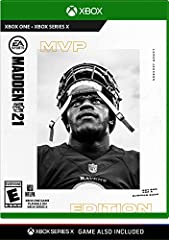 "Upgrade to Madden NFL 21 Xbox Series X at no additional cost. See ""From the Manufacturer"" section below for more information Fresh new features, innovative new gameplay mechanics, and Madden's newest mode, The Yard Face of the Franchise - Push the li..."