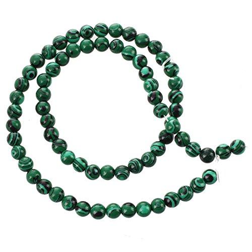 SODIAL Enfilade Perles en Malachite Pierres GEM Rond 6mm Vert