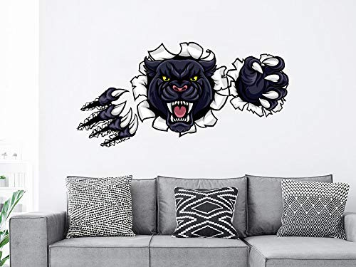 Black Panther Wall Decal Full Color Mural - Panther Wall stickers - Predator Wall Decor - Panther Wall Art - Boys Panther Bedroom Decor PS27 Easy to Apply and Removable Easy to Apply and Removable