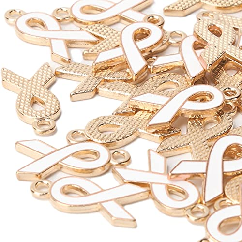 30 piezas colgantes de cinta para DIY collar pulsera llavero joyería artesanía accesorios para hacer(blanco)