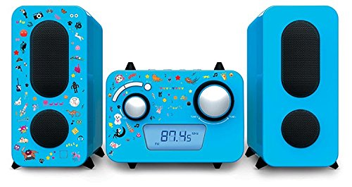 Stereo Music Center MCD11 - Kids met 5 stickervellen, blauw