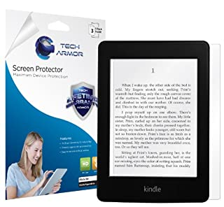 Tech Armor Kindle Paperwhite/Original Paperwhite High Defintion (HD) Clear Screen Protectors - Maximum Clarity and Touchscreen Accuracy [3-Pack] Lifetime Warranty (B00B394K8K)   Amazon price tracker / tracking, Amazon price history charts, Amazon price watches, Amazon price drop alerts