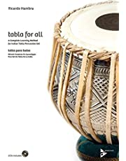 Tabla for All: A Complete Learning Method for Indian Tabla Percussion Set (English/Spanish Language Edition), Book & 2 CDs: A complete learning method ... set. indische Tabla. Lehrbuch mit CD.