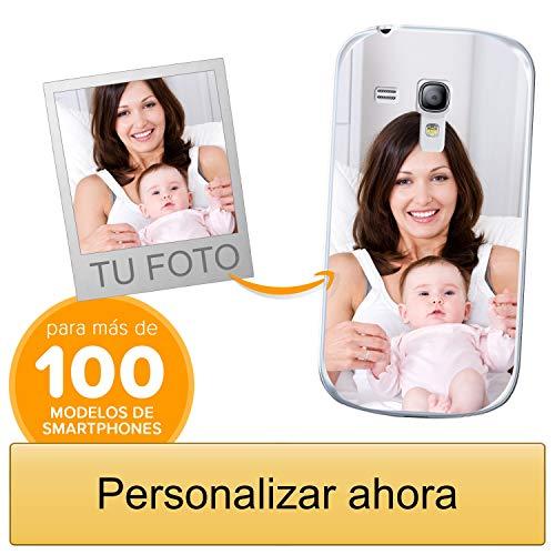 Funda Personalizada para Samsung Galaxy S3 Mini con tu Foto, Imagen o Escritura - Estuche Suave de Gel TPU Transparente - Impresión