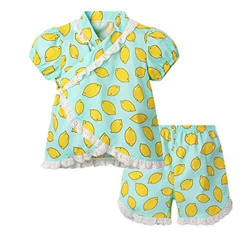 Niños Jinbei Niñas Kimono Japonés Shijira Raya Ropa de Manga Corta para Bebés