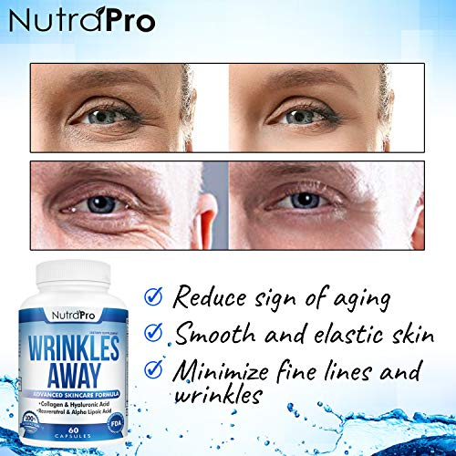 51ky5mSgidL - Skin Vitamins To Reduce Wrinkles and Fine Lines. The Only Skin Supplement With Collagen, Resveratrol and Hyaluronic Acid Together To Renew Skin by NutraPro. | Launch Special Price |
