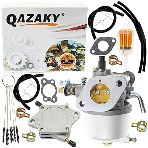 QAZAKY Carburetor Fuel Pump Compatible with EZGO Golf Cart Gas Car 350cc Robin Engines 4-Cycle Engines Workhorse & ST350 Carb 17559 72558G01 72558G05 72840G02 Red Hawk CARB-016A 520-184 72021G01