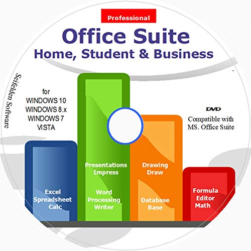 Office Suite 2021 Home Student and Business for Microsoft Windows 10 8.1 8 7 Vista 32 64bit| Alternative to Office 2019 2016 2013 2010 365 Compatible with Word Excel PowerPoint ⭐⭐⭐⭐⭐