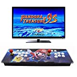 HAAMIIQII Pandora Treasure 9s Arcade Game Console - 4780 Games Pre-Loaded, Support 3D Games, Search/Save/Hide/Pause Games, 1280x720P, 4 Players Online Game, 2 Player Game Controls
