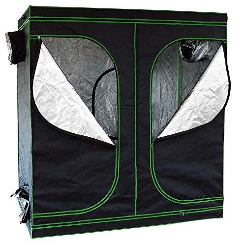 Melko Growzelt 240x120x200 cm Growbox Oxford 600D Growschrank Zuchtzelte Zuchtschrank Indoor Grower Pflanzenzucht, Lichtdicht und Wasserdicht