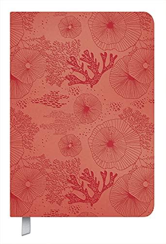 Timer Soft Touch koralle 2022: Terminplaner in Lederoptik. Terminkalender mit Wochenübersicht und Lesezeichenband. Taschenkalender im Format: 11 x 16 cm