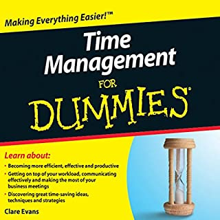 Time Management For Dummies Audiobook audiobook cover art