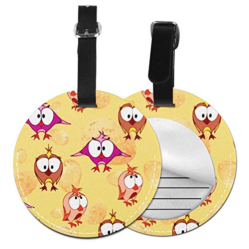 Luggage Tags Egg Bird Owl Suitcase Luggage Tags Business Card Holder Travel Id Bag Tag