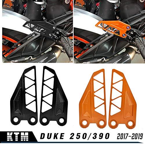 LoraBaber Motorrad für K-T-M DUKE 250 390 2017 2018 2019 Aluminium Vorne Hinten Fußraste Fersenschutzhülle Bremszylinder Schutz 250 390 DUKE Zubehör (Orange)