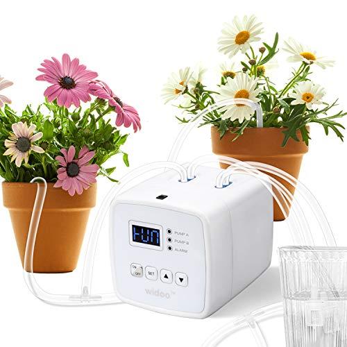 Intelligente Bewässerungssystem, Wasserspender für Zimmerpflanzen Mini Tropfbewässerungs Kit Automatisches Timer-Bewässerungsgerät für Gartenarbeit,Zusätzlicher Kauf von kostenlosen EU-Adaptern