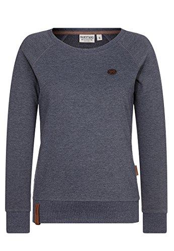 Naketano Female Sweatshirt Krokettenhorst, Indigo Blue Melange, Gr. S