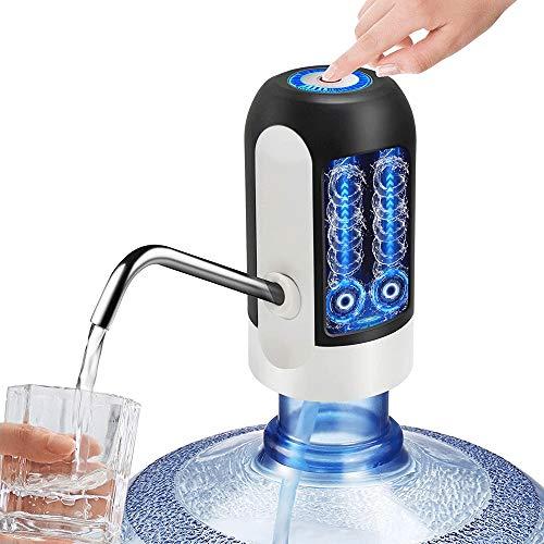 WXH-00 Bomba de Agua eléctrica para dispensador automático de Agua con Botella de Agua de 5 galones, dispensador de Agua portátil y Carga USB para una Botella de Agua de 5 galones