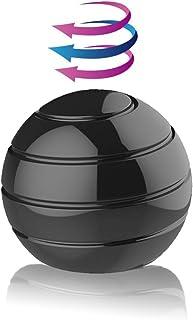 """Kinetic Desk Toys,Full Body Optical Illusion Fidget Spinner Ball,Gifts for Men,Women,Kids 1.5"""" Size (Black)"""