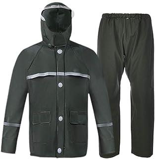 Qivor Waterproof clothing Raincoat Rain Pants Set Double Layer Men And Women Adult Split Poncho, Suitable For Hiking Campi...