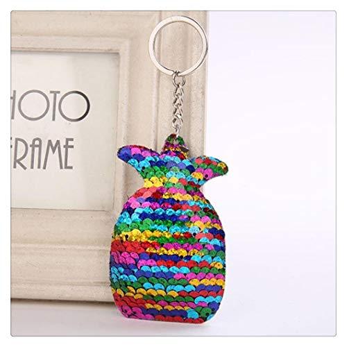 Netter Keychain Glitter Pailletten Stern Schlüsselanhänger for Frauen-Auto-Zubehör Tasche Schlüsselring Schmuck Geschenke (Color : C4)