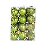GGHHJ Glitter Árbol de Navidad Bola Baubles Colorido Navidad Partido Home Jardín Decoración de Navidad Suministros 24 PCS/Set (Color : G)