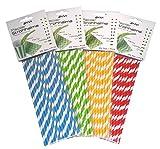 Ekna, Cannucce di carta ecologica, cannucce di carta alimentare vera, disponibile in diver...