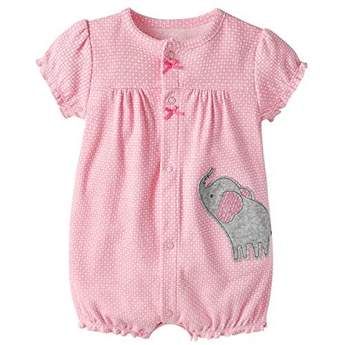 Baby Strampler Mädchen Jumpsuit Neugeborenes Sommer Pyjama Baumwolle Kurzarm-Body 0-3 Monate