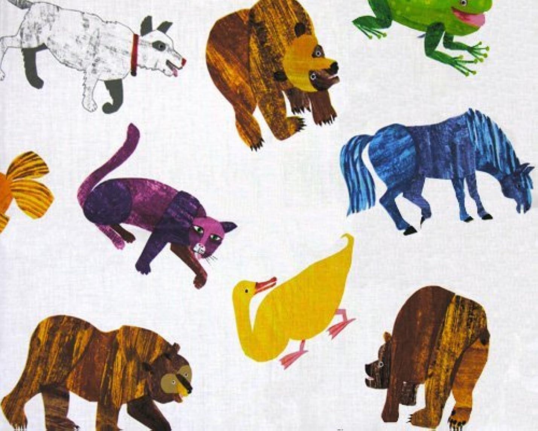 Brown Bear Brown Bear Painted Animals Multi Fabric by The Yard gqjsghgoqmzbe316