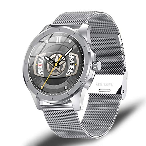 ZRY Pantalla de Colores Smart Watch MX10, Rastreador de Fitness Masculino y Femenino, Monitor de suspensión a presión Arterial, Reloj Inteligente, IP68 Impermeable, Adecuado para Android iOS,B