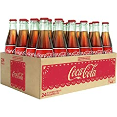Made with real cane sugar 24 classic Coca-Cola glass bottles Product of Mexico