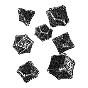 Q-Workshop Metal Mythical 7 Polyhedral Ornamented Dice Set