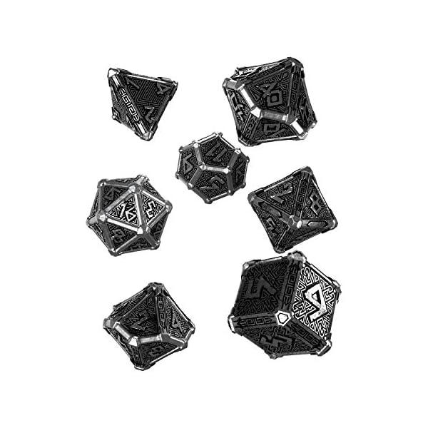 Q-Workshop Metal Mythical 7 Polyhedral Ornamented Dice Set 3