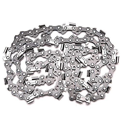 Cadena de motosierra de 16 pulgadas, paso de barra, hoja de 3/8, corte de madera, 57 eslabones impulsores, piezas de repuesto, repuestos de motosierra para sierra eléctrica