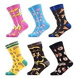 WeciBor Calcetines Hasta La Hombre Estampados Hombres Ocasionales Calcetines Divertidos Impresos de Algodón de Pintura Famosa de Arte Calcetines Calcetines de Colores de moda (ES052-05)