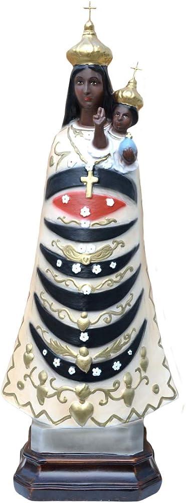 Generico, statua della madonna di loreto, in resina, 55 cm